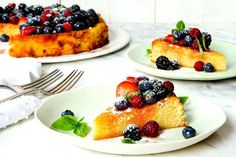 Lemon and almond cake with berries | The Times