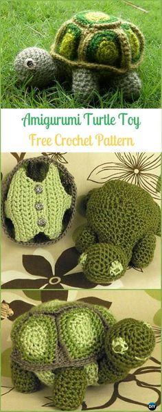 Amigurumi Crochet Turtle Toy Free Pattern - Crochet Turtle Amigurumi Free Patterns