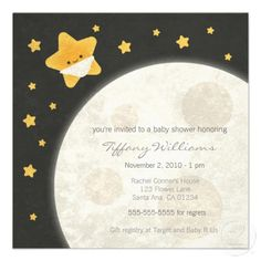 Twinkle Little Star Baby Shower Invitation from Zazzle.com