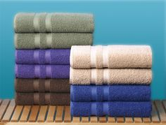 Spa bath towels for your spa like bathroom. #AnnasLinens #Spa