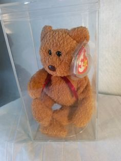 47f79fca992 Rare Ty Beanie Baby CURLY the Bear MINT by GrandmaMagicClassics