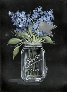 Julie Norkus: Hand Painted Art on Creatively Curated Goods Acrylic Painting Flowers, Simple Acrylic Paintings, Easy Paintings, Acrylic Painting Canvas, Hand Painting Art, Diy Painting, Painting & Drawing, Canvas Art, Farmhouse Paintings