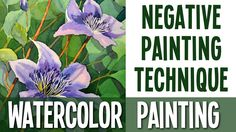 I decided to record this easy video, because I know a lot of people have problems with negative painting technique. I hope it will help you to understand wha...