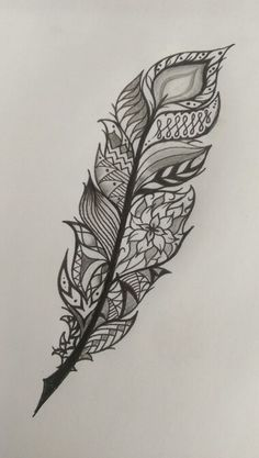 Feather tattoo idea mandala style More
