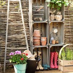 Nice outside organization!! This would be great in a little shed or under an awning