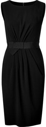 ShopStyle: Paule Ka Black Gathered Shift Dress