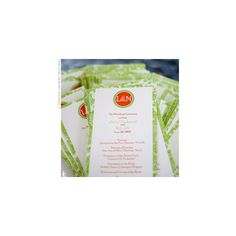 Real Weddings - Lindsey & Nick: An Outdoor Wedding in Spicewood, TX - The Programs found on Polyvore