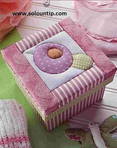 Cajas decoradas con tela