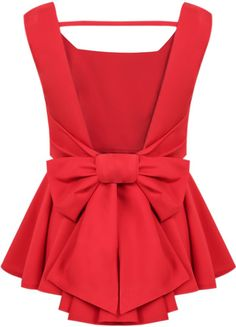 Cheap women cashmere, Buy Quality women fashion blouse directly from China women brace Suppliers: 2015 New Women Summer Poullover Sheinside Blusas Mult Red Peplum Tops, Backless Top, Bow Tops, Women's Tops, Party Tops, Blouse Designs, Dress To Impress, Ideias Fashion, Cute Outfits