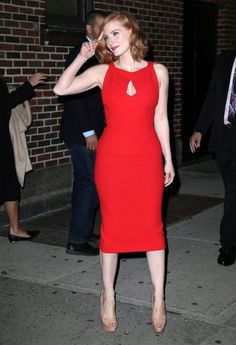 Jessica Chastain Photos Photos: The Cast of 'Crimson Peak' Appears on 'The Late Show With Stephen Colbert' Hottest Female Celebrities, Beautiful Celebrities, Beautiful Actresses, Celebs, Jessica Chastain, Mia Wasikowska, Gorgeous Redhead, Redheads, Celebrity Style