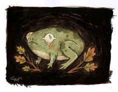 "taryndraws: ""a teeny tiny frog friend "" Animal Drawings, Art Drawings, Frog Drawing, Frog Art, Aesthetic Drawing, Frog And Toad, You Draw, Cute Art, Art Inspo"