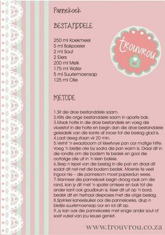 Pannekoek Recipe, Breakfast Recipes, Snack Recipes, Pancake Recipes, Bread Recipes, Apple Pie Cupcakes, Milk Tart, Crunch Cake, South African Recipes
