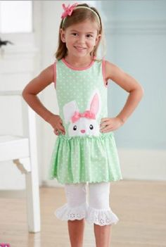 MM Bunny Trail Dress and Capri Legging Set 12 Months to ONLY (Girls Toddler Clothing). MM Bunny Trail Dress and Capri Legging Set. Nice Dresses, Flower Girl Dresses, Summer Dresses, Girls Christmas Dresses, Kids Boutique, Easter Outfit, Toddler Girl Outfits, Two Piece Outfit, Capri Leggings