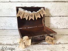 Personalized Wedding Card Box Vintage Wedding by LoRustique, $54.50