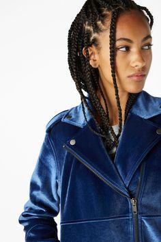 Monki Velvet Biker Jacket