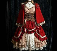 Pretty Outfits, Pretty Dresses, Beautiful Dresses, Cosplay Dress, Cosplay Outfits, Old Fashion Dresses, Fashion Outfits, Mode Lolita, Lolita Style