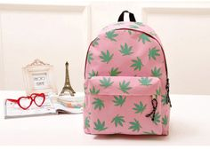 Casual Leaf Print and Canvas Design Women's SatchelBags | RoseGal.com