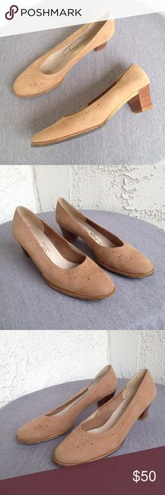 Salvatore Ferragamo Suede Laser Cut Flats Shoes 8 These Salvatore Ferragamo laser cut flats are so boho chic! Great preowned condition, wear on the bottoms but can be cleaned! Size 8 Narrow! Salvatore Ferragamo Shoes Flats & Loafers