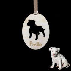 Personalised Staffy Keepsake Plaque Decoration Staffordshire Bull Terrier Gift