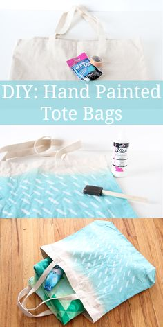 Fun DIY watercolor totes that are perfectly eco-friendly