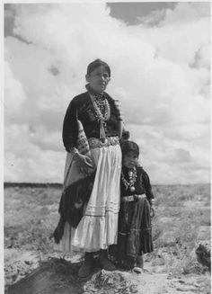 Navajo mother and child~Circa 1920