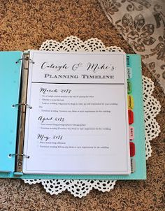 What a beautiful, efficient way to keep your wedding organized. #Avery #weddingplanner