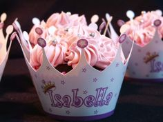 Princess Cupcakes with personalized wrappers By My_Edible_Art on CakeCentral.com
