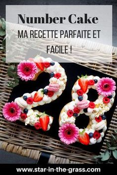 Ma recette parfaite et facile du Number Cake / Letter Cake ! My perfect and easy recipe for the Number Cake / Letter Cake! Birthday 60, 19th Birthday Cakes, Birthday Cupcakes, Baking Recipes Cupcakes, Homemade Cake Recipes, Easy Recipes, Fun Cupcakes, Cupcake Cakes, Cake Lettering