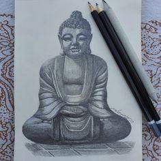 #lapiz #dibujo #buda Statue, Art, Dibujo, Buddha, Illustrations, Art Background, Kunst, Performing Arts, Sculptures
