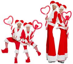 HIRE SANTA STILTS AND ELF BALLOON MODELLERS BIRMINGHAM AND MANCHESTER AND LONDON