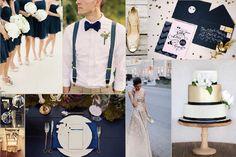 Decoración de boda en classic blue