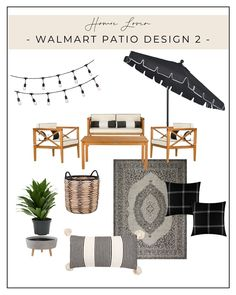Looking for affordable patio furniture? Here are three patio designs to help you get your backyard looking beautiful without breaking the bank. All products are shop-able right here or on our LIKEtoKNOWit account. Each item below is from the Walmart Home collection from Walmart. The great thing about these items is that you can order them right here online and either have them delivered to you or picked up at a Walmart location. Walmart Home has an awesome collection. Check it out! Decor Interior Design, Room Interior, Furniture Design, Handmade Home Decor, Diy Home Decor, Walmart Home, Living Room Accessories, Modern Style Homes, Living Room Modern