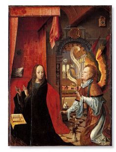 Annonciation École flamande  XVIe siècle  Tempera sur bois