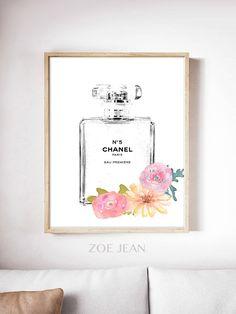 Chanel Kunst gedruckt große Chanel Wand Kunst Coco von ZoeJeanArts