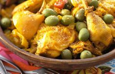 Chicken with Olives - Moroccan Food - Moroccan Food Recipes