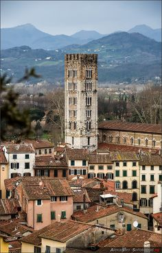 Lucca, a walled town in Tuscany worth a visit when in Tuscany. Spent 4 nights here on our 25th anniversary holiday