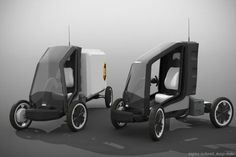 Electric Cargo Bike, Electric Tricycle, Electric Cars, 4 Wheel Bicycle, Microcar, City Car, Pedal Cars, Bicycle Design, Automotive Design
