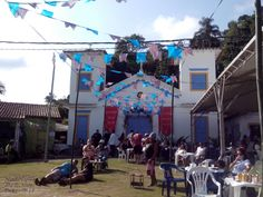 Igreja de São Pedro e São Paulo. Festa de São Pedro / Festival do camarão. Ilha do Araújo. Paraty, Rio de Janeiro.