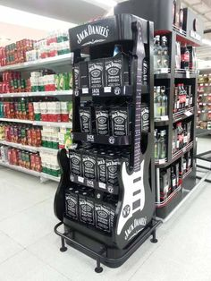 Jack Daniels pulling out their passion point of music in their POS Signage Display, Pos Display, Store Displays, Display Design, Retail Displays, Pos Design, Retail Design, Shop Shelving, Cardboard Display