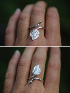 birch leaf ring