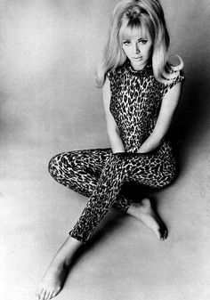 Britt Ekland again, but pinned for my genetic obsession with all things animal print.
