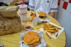 New York Five Guys Burgers Five Guy Burgers, Five Guys, Food Pictures, Fries, York, Breakfast, Morning Coffee