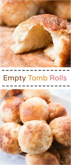 Every Easter our family makes these sweet empty tomb rolls where the marshmallow melts down to a caramel sauce that's amazing!