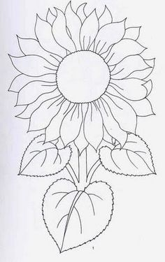 New Ideas Embroidery Sunflower Pattern Design – Handstickerei Stained Glass Patterns, Mosaic Patterns, Painting Patterns, Fabric Painting, Sunflower Quilts, Sunflower Art, Sunflower Pattern, Sunflower Coloring Pages, Sunflower Template