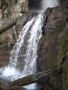 Baskins Creek Falls, Roaring Fork Motor Nature Trail, Great Smoky Mountains National Park, TN