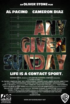 """""""Any Given Sunday"""" (1999).  Al Pacino, Cameron Diaz, Jamie Foxx. Directed by Oliver Stone."""