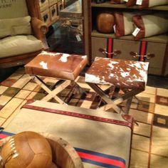 cow hide stools #lvmrkt Bull Skulls, Cow Skull, Cowhide Furniture, Diy Furniture, Market Trends, Hearth And Home, Cow Hide Rug, Western Decor