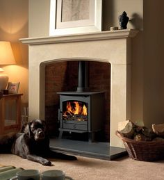 The Earlswood Multifuel / Woodburning stove has all the wonderful, cosy atmosphere of a traditional woodburning stove, with a difference. With full DEFRA approval the Earlswood can be used for woodburning in smoke controlled zones - so now you can enjo Wood Burner Fireplace, Fireplace Wall, Fireplace Design, Fireplace Ideas, Fireplace Surrounds, Fireplace Mantels, Log Burner Living Room, Wood Fuel