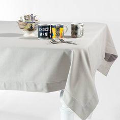Tischdecke aus Baumwolle, 150 x 250cm, hellgrau