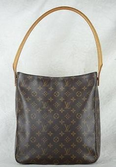 cool Authentic LOUIS VUITTON Monogram canvas Looping GM purse - For Sale View more at http://shipperscentral.com/wp/product/authentic-louis-vuitton-monogram-canvas-looping-gm-purse-for-sale/
